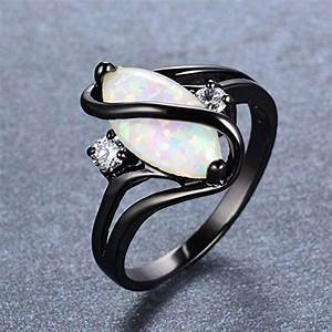 bamos jewelry white opal black gold halloween engagement With best friend wedding ring
