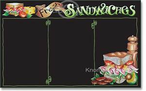 Sandwich menu board template art shop for Sandwich shop menu template