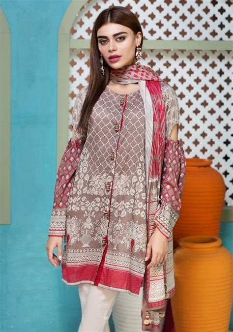 matching dress shirt enjoy khaadi eid lawn 2018 with exciting prints this