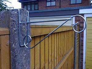 3, X, Hanging, Basket, Brackets, For, Concrete, Fence, Posts, H, Section