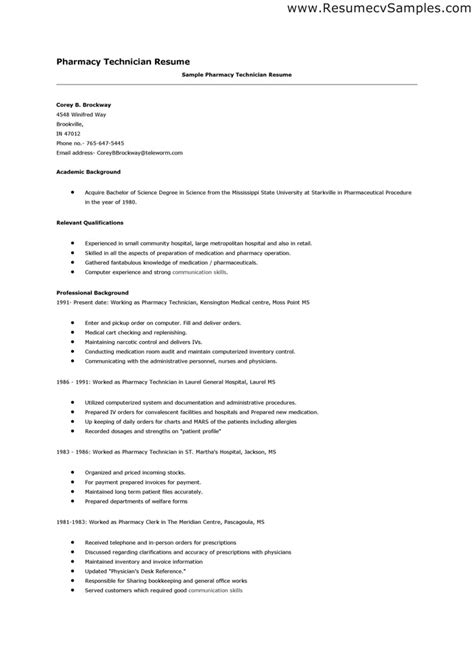 sle resume with professional experience pharmacists cover letter job application