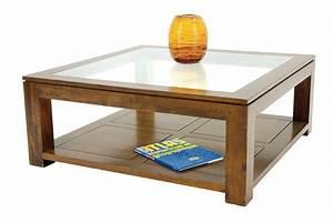 table basse carree en bois massif et verre l100 cm hand With meuble a chaussures en bois massif 8 table basse carree bois massif et verre l110 cm hand