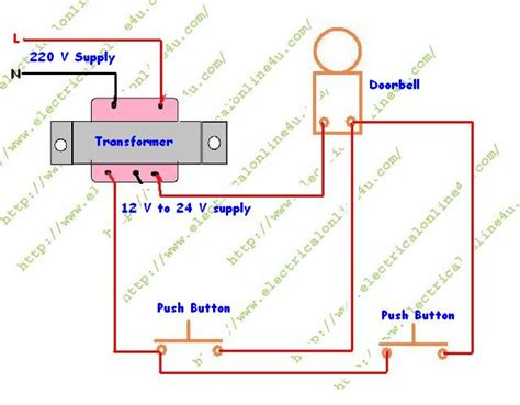 wiring diagram for bell transformer how to wire a doorbell electrical online 4u