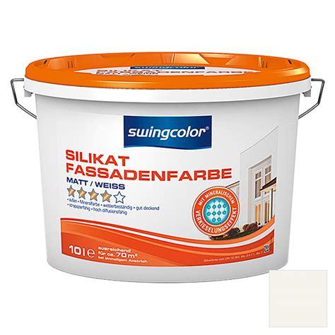 Wohnen Silikatfarbe by Swingcolor Silikat Fassadenfarbe Wei 223 10 L Matt 5874
