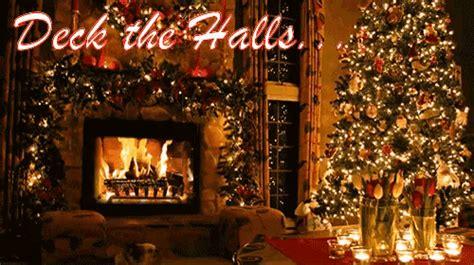 deck the halls gif fireplace deckthehalls