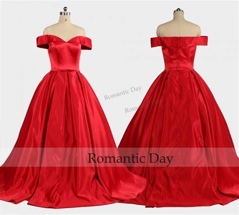 elegant boat neckline red ball gownpalace ball gown