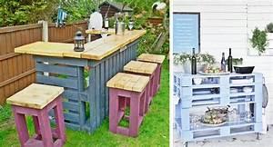 bar exterieur en palette ciabizcom With idee pour jardin exterieur 3 les palettes reinventent le mobilier de jardin