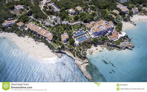 Aerial View Of Anguilla Beach Stock Photo  Image 68490820