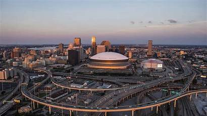 Orleans Downtown Aerial Louisiana Sinking Latoya Cantrell
