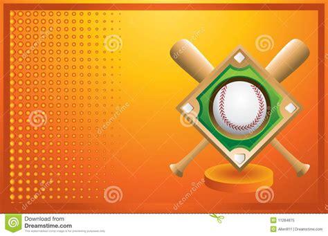 baseball diamond  bats  orange banner royalty