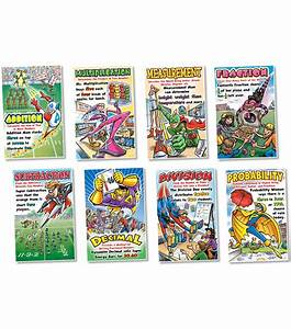 Math Superheroes Bulletin Board Set  2 Sets