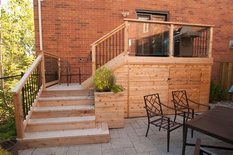 Patio And Deck Ideas For Small Backyards by Small Backyard Deck Patio Idea Hobsonlandscapes