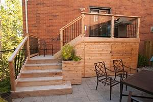 Small backyard deck patio idea hobsonlandscapescom for Deck and patio ideas for small backyards