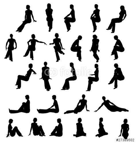 Silhouette Persone Sedute Donne Sedute Loghi E Silhouette