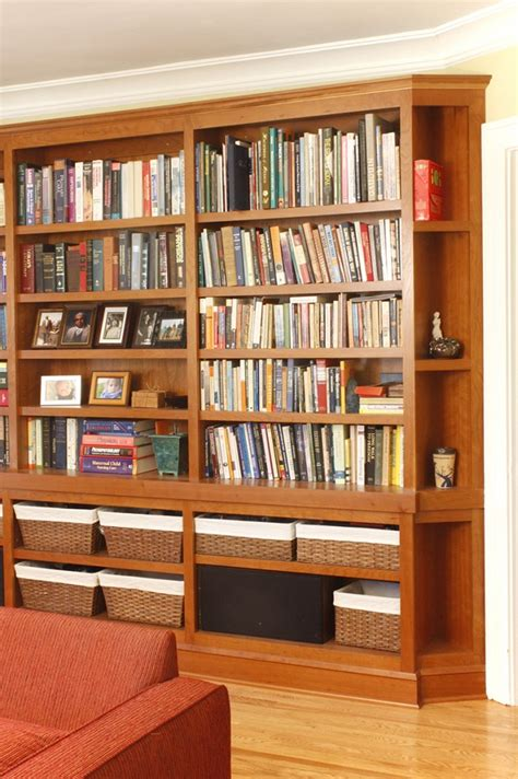 Prairie Woodworking Built In Bookshelves With Cubbies And