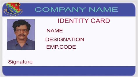 create id card template how to design an id card using photoshop with
