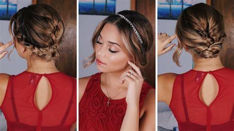 3 Simple Holiday Hairstyles for Short/Medium Length Hair