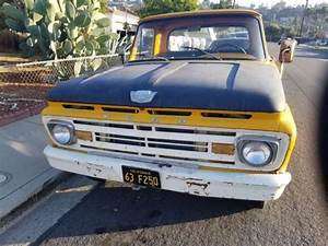 1963 Ford F250 Straight 6 Cyl 223ci  4 Speed Manual On The