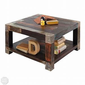 Couchtisch 80 X 80 : couchtisch 80x80 goa tisch beistelltisch massivholz vintage used look multicolor ebay ~ Indierocktalk.com Haus und Dekorationen