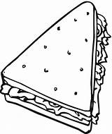 Bread Coloring Sandwich Clipart Triangle Objects Cheese Colouring Cereal Grilled Drawing Sub Printable Freecoloringpagefun Lunch Clip Shaped Clipground Sheets Getcolorings sketch template