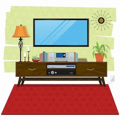 Vector Tv Clip Entertainment Living Center Scene