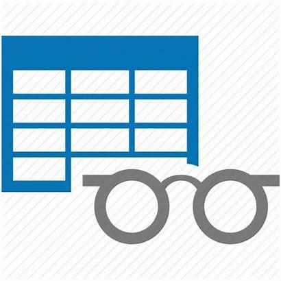 Table Icon Views Study Data Analyse Analyze