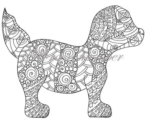 puppy coloring page adult coloring instant  wordsremember