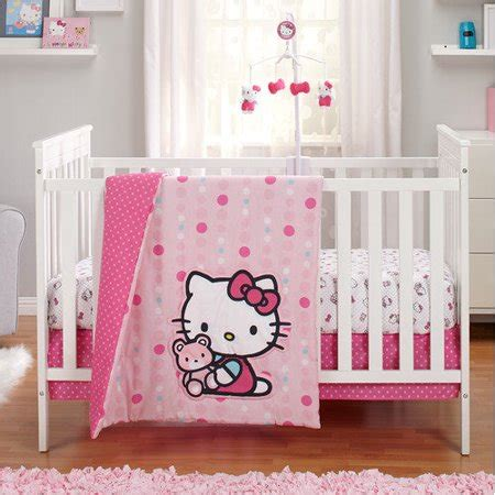 Hello Bedroom Set At Walmart by Hello As A Button 3 Crib Bedding Set