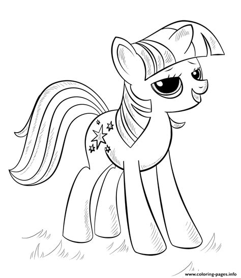 printable   pony coloring pages