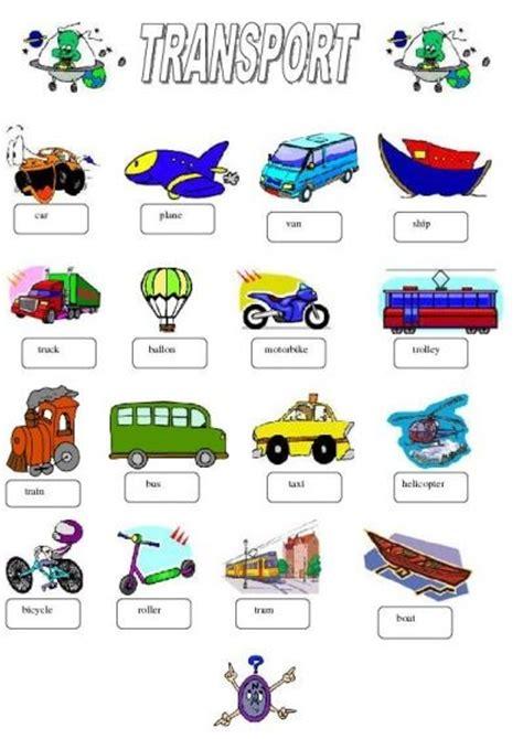 transport avec images esl lesson plans