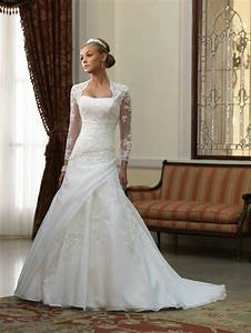Buy cheap applique ruched wedding dress with long sleeves for Wedding dresses with sleeves cheap