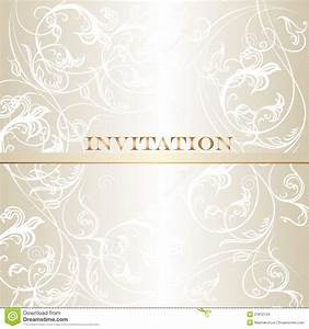 Elegant wedding invitation card in pastel white tones for Fancy wedding invitations vector