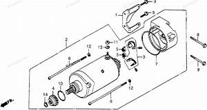 Honda Motorcycle 1978 Oem Parts Diagram For Starter Motor