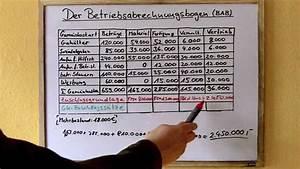 Herstellkosten Des Umsatzes Berechnen : betriebsabrechnungsbogen bab verst ndlich erkl rt teil ~ Themetempest.com Abrechnung