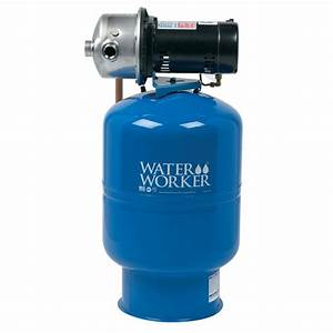 Water Worker City Water Pressure Booster System With 14 Gal  Well Tank  1  2 Hp Pump And Digital