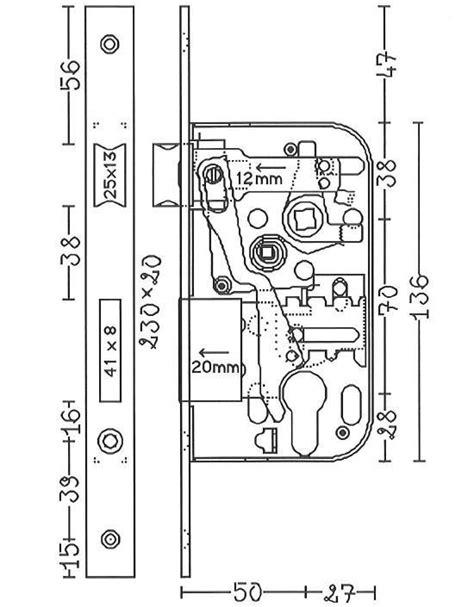 interieur d une serrure plans de serrures 224 encastrer astuces pratiques