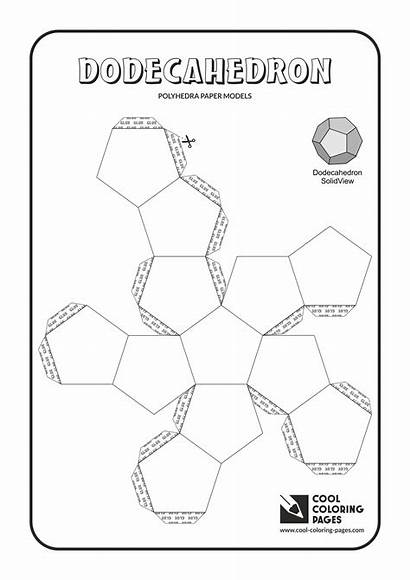 Paper Models Coloring Pages Polyhedra Solids Cool