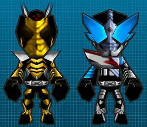 Kamen Rider TheBee and Drake GetAmped Skins by ...