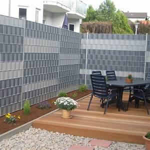 Sichtschutzzaun Kunststoff Günstig : sichtschutz zaunelemente lilashouse ~ Watch28wear.com Haus und Dekorationen