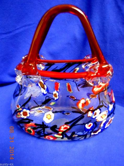 Blown Glass Purse Vases