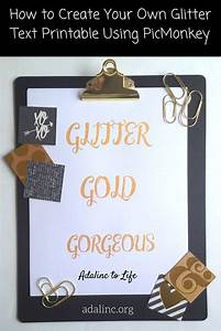 How To Make Your Own Flyers For Your Business Create Glitter Text Printable Using Picmonkey