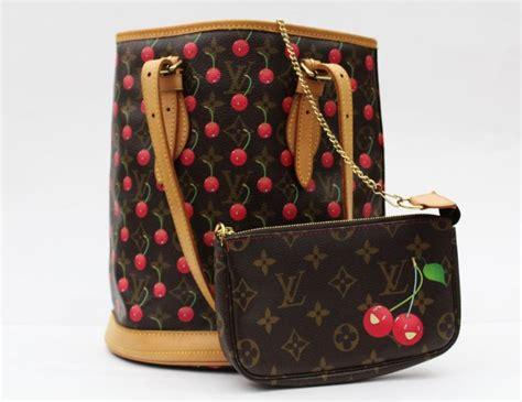 louis vuitton monogram cerises cherry bucket bag  sale  stdibs