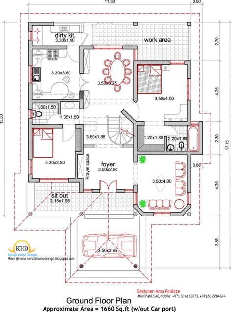 kerala architectural house plans home design architecture