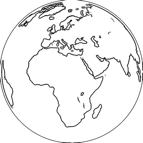 earth globe coloring page wecoloringpage  african
