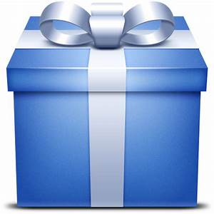 present, gift, Box, Blue, gift box icon