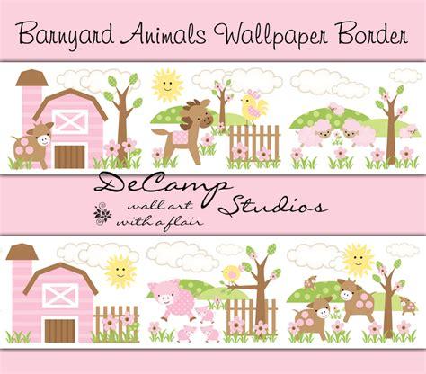 Farm Animal Wallpaper Border - wallpaper borders farm animals