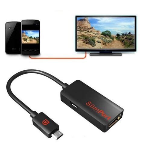 usb otg hdmi slimport micro usb to hdmi adapter 1080p 3d smartphone to