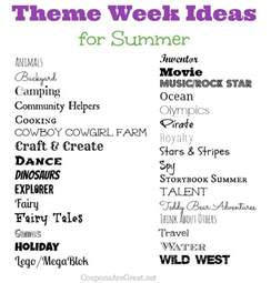 frugal summer ideas summer theme week ideas