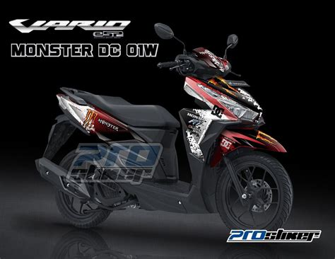 Variasi Motor Vario 150 by Stiker Motor Vario 150 Esp Merah Modifikasi Prostiker