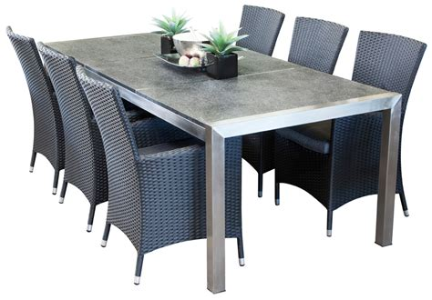 dining table set 6 seater stainless steel outdoor dining sets portman 6 seater